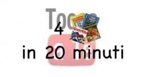 4 giochi in 20 minuti, il videotutorial