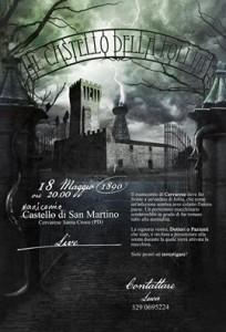 Volantino evento Live - Il Castello della Follia