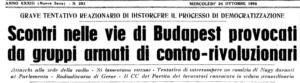 Days of Ire, Budapest 1956