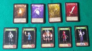 Dungeon Raiders - Dettaglio carte