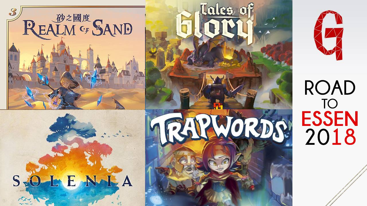 Road to Essen 2018: Solenia, Trapwords, Realm of Sand e Tales of Glory