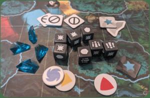 Funkoverse Strategy Game Harry Potter, componenti vari
